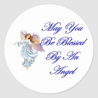 May You Be Blessed By An Angel Classic Round Sticker