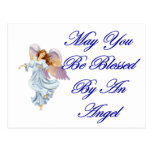 May You Be Blessed By An Angel Post Cards