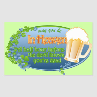 May You Be In Heaven Rectangular Sticker