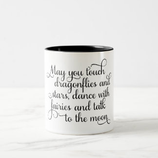May you dance with fairies Irish Blessing Two-Tone Coffee Mug