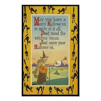 May You Have A Merry Halloween Poster