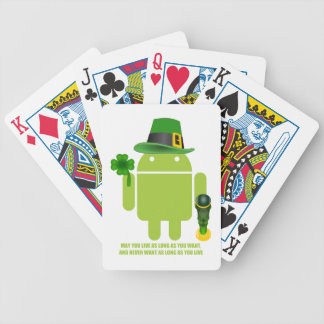 May You Live As Long As You Want Irish Bug Droid Bicycle Playing Cards