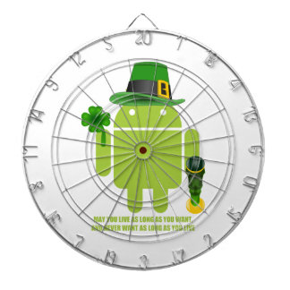 May You Live As Long As You Want Irish Bug Droid Dartboard