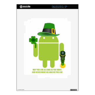 May You Live As Long As You Want Irish Bug Droid Skin For iPad 2