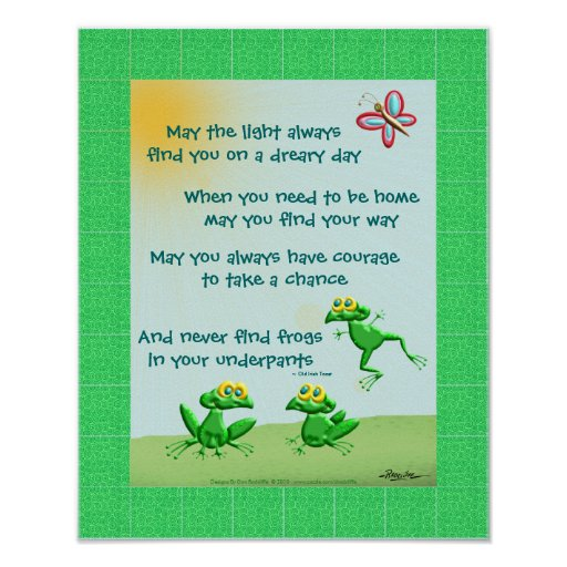 May You Never Find Frogs In Your Underpants Print