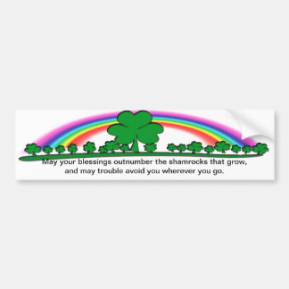 MAY YOUR BLESSINGS OUTNUMBER SHAMROCKS BUMPER STICKER
