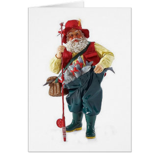 MAY YOUR CATCH BE LARGE/CHRISTMAS HAPPY FISHERMAN CARD