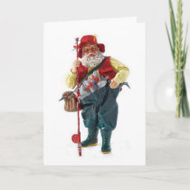 MAY YOUR CATCH BE LARGE/CHRISTMAS HAPPY FISHERMAN HOLIDAY CARD
