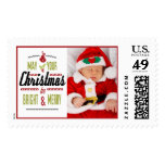 May Your Christmas Be Bright and Merry Photo Postage Stamps