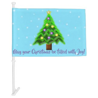 May your Christmas be filled with Joy! Car Flag