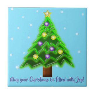 May your Christmas be filled with Joy! Ceramic Tile