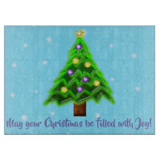 May your Christmas be filled with Joy! Cutting Board