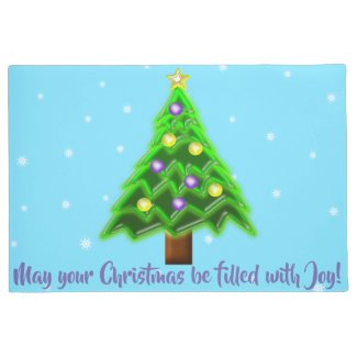May your Christmas be filled with Joy! Doormat