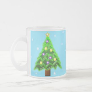 May your Christmas be filled with Joy! Frosted Glass Coffee Mug