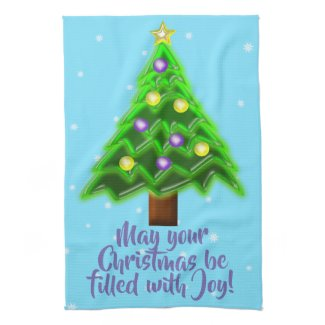 May your Christmas be filled with Joy! Hand Towel