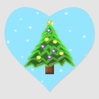 May your Christmas be filled with Joy! Heart Sticker
