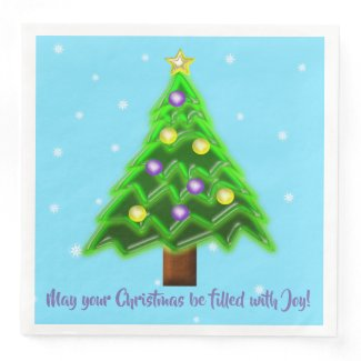 May your Christmas be filled with Joy! Paper Dinner Napkin