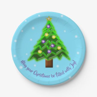 May your Christmas be filled with Joy! Paper Plate