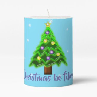 May your Christmas be filled with Joy! Pillar Candle