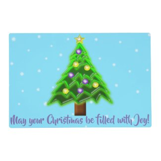 May your Christmas be filled with Joy! Placemat