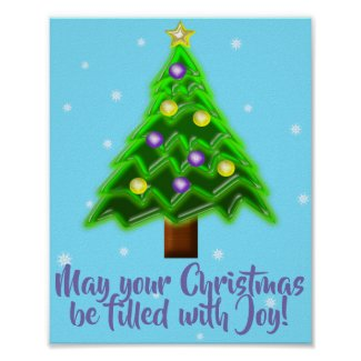 May your Christmas be filled with Joy! Poster