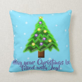 May your Christmas be filled with Joy! Throw Pillow