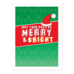 May your Days be MERRY and Bright! Christmas card Post Cards