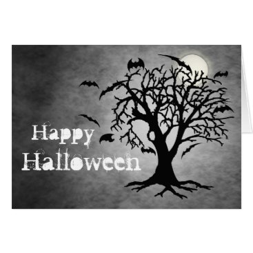 Halloween Themed May Your Ghoulish Dreams Silver Halloween Card