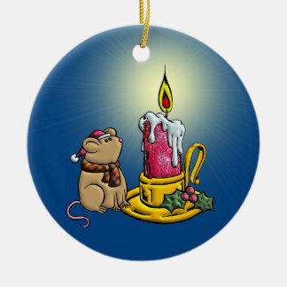 May Your Heart Be Filled With A Warm Glow Double-Sided Ceramic Round Christmas Ornament