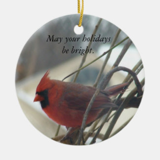 May your holidays be bright. ceramic ornament