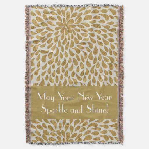 May Your New Year Sparkle and Shine Throw