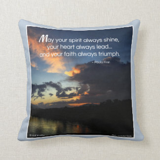 May your spirit always shine pillow