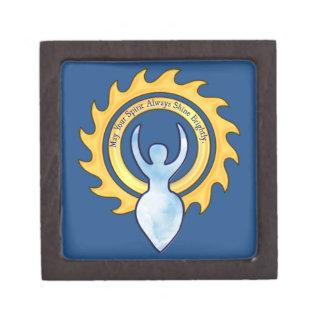 May Your Spirit Shine Brightly Goddess Jewelry Box