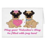 May Your Valentine's Day Be Filled with Pug Love Cards