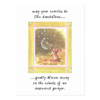 May your worries..... post card