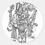 Maya alto pegatina redonda