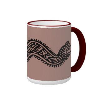 Maya antiguo taza de dos colores