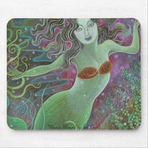 Maya as Mermaid mousepad