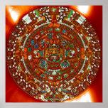 Maya Aztec Calendar Poster
