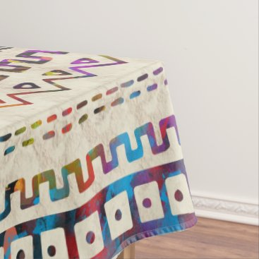 Aztec Themed Maya / Aztec Gentle Watercolor pattern Tablecloth