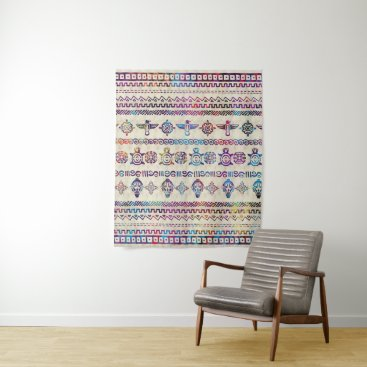 Maya / Aztec Gentle Watercolor pattern Tapestry