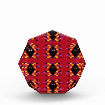 Aztec Themed Maya / Aztec handdrawn  Folk Summer vintage patter Acrylic Award