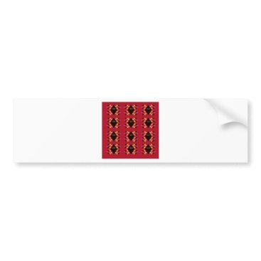 Aztec Themed Maya / Aztec handdrawn  Folk Summer vintage patter Bumper Sticker