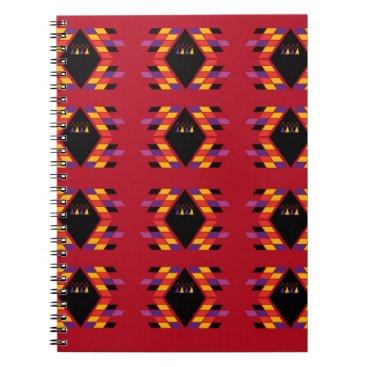 Maya / Aztec handdrawn  Folk Summer vintage patter Spiral Notebook