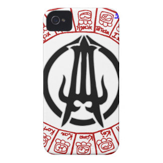 MAYA AZTEC OTOMI FACE&SIMBOLS 03 CUSTOMIZABLE PROD iPhone 4 CASES
