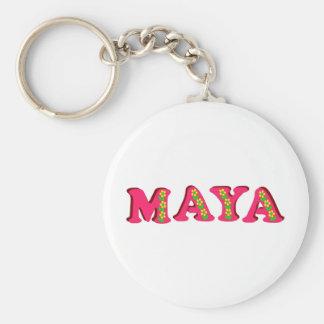 Maya Basic Round Button Keychain