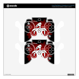 MAYA BIRD RED BACKGROUND PRODUCTS PS3 CONTROLLER SKIN