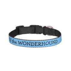 Maya Blue Dog Collar Personalized