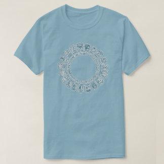 Maya Calendar Blue Shirt