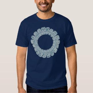 Maya Calendar Blue Tshirts